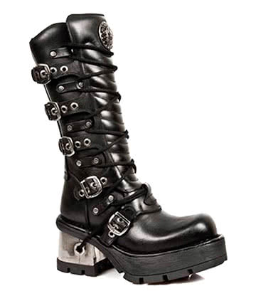 New Rock M.1016-S1 M8 Calf Boots (Black)