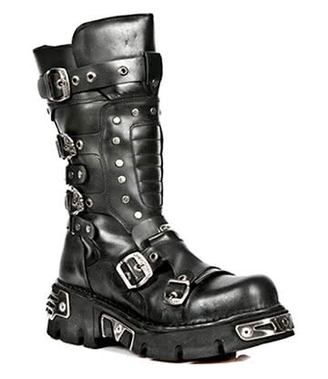 New Rock Style M.1020-S2 Boots (Black)
