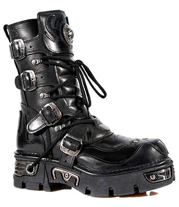 New Rock M.107-S3 Reactor Demon Flame Boots (Black)