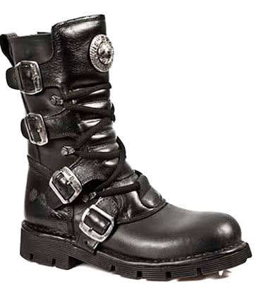 New Rock M.1473-S1 Comfort-Light Boots (Black)