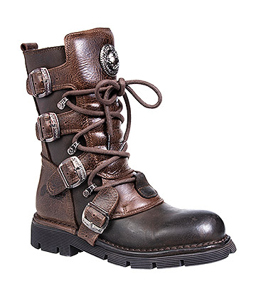 New Rock M.1473-S8 Comfort-Light Calf Boots (Brown)