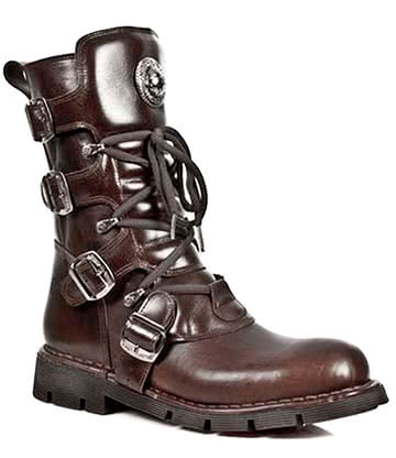 New Rock Style M.1473-S8 Boots (Brown)