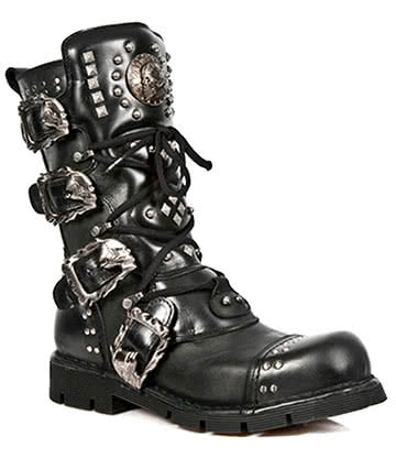 New Rock M.1474-S1 Comfort Light Calf Boots (Black)