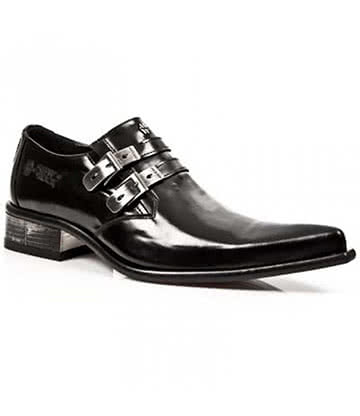 New Rock Style M.2246-C23 Shoes (Black)