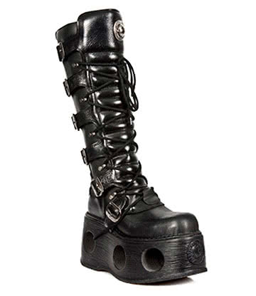 New Rock M.272-S2 Space Platform High Boots (Black)