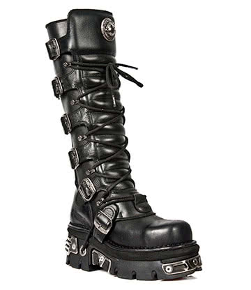New Rock M.272MT-S1 Reactor Metal Toe High Boots (Black)