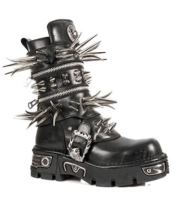 New Rock Style M.280-S1 Long Spike Boots (Black)