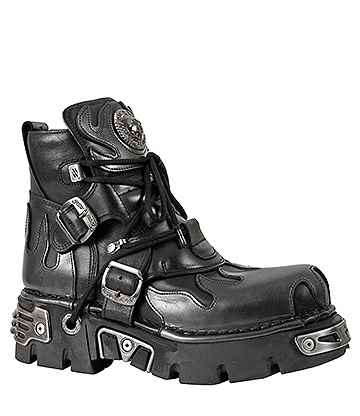 New Rock M.288-S2 Reactor Flame Ankle Boots (Black/Pewter)