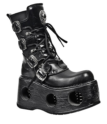 New Rock M.373-S2 Space Metallic Neptuno Boots (Black)