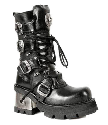 New Rock Style M.373-S33 Boots (Black)