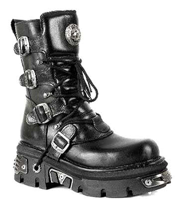 New Rock M.373-S4 Reactor Half Boots (Black)