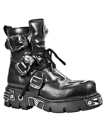 New Rock M.407-S1 Cross Reactor Ankle Boots (Black)