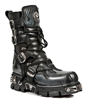 New Rock Style M.591-S2 Flame Reactor Boots (Black/Grey)