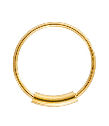 Blue Banana Silver 1.0mm Cylinder Closure Ring (Gold Plated)