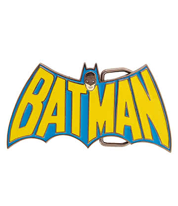 DC Comics Batman Retro Buckle (Blue/Yellow)