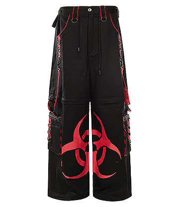 Dead Threads Biohazard Trousers (Black/Red)