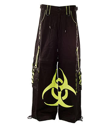 Dead Threads Biohazard Men's Trousers (Black/Lime Green)