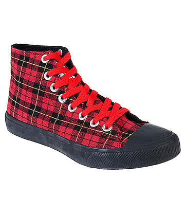 Bleeding Heart Tartan Boots (Red)