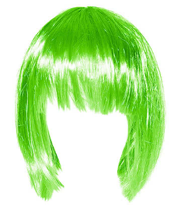 Blue Banana Bob Wig (Green)