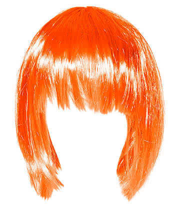 Blue Banana Bob Wig (Orange)