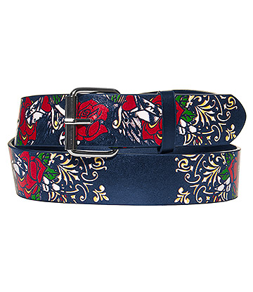 Blue Banana Red Roses Belt (Black)