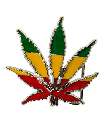Blue Banana Rasta Leaf Buckle (Multi Coloured)
