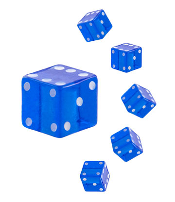 Blue Banana Acrylic UV 4mm Dice Add On (Blue)