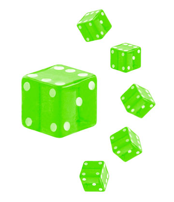 Blue Banana UV 4mm Dice (Green)