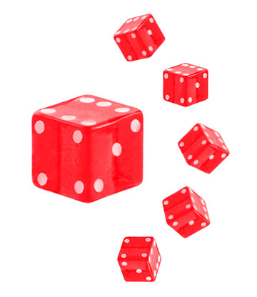 Blue Banana Acrylic UV 4mm Dice Add On (Red)