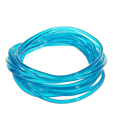 Blue Banana Pack Of 12 Gummy Bracelets Gomme (Bleu)