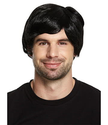 Blue Banana Boy Band Wig (Black)