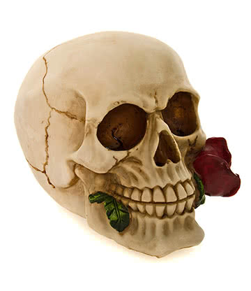 Nemesis Now Rose Dead Skull Figurine (15cm)