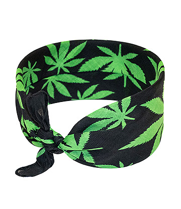 Blue Banana Leaf Bandana (Black/Green)