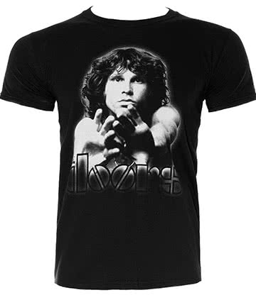 Official The Doors Break On T Shirt (Black)