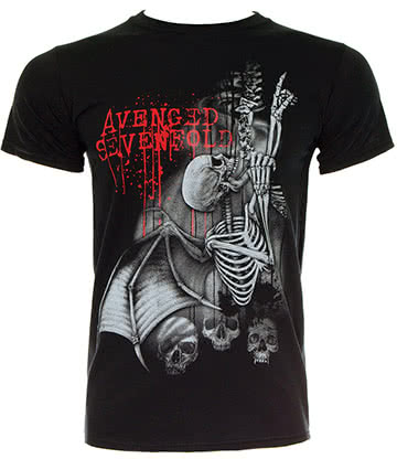 T Shirt Avenged Sevenfold Spine Climber (Nero)