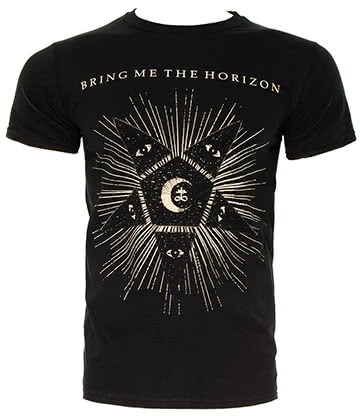 Official Bring Me The Horizon Star T Shirt (Black)