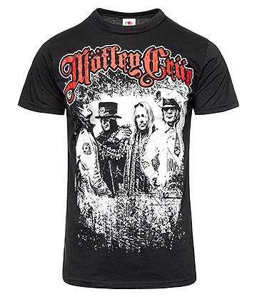 Official Motley Crue Bandshots T Shirt (Black)