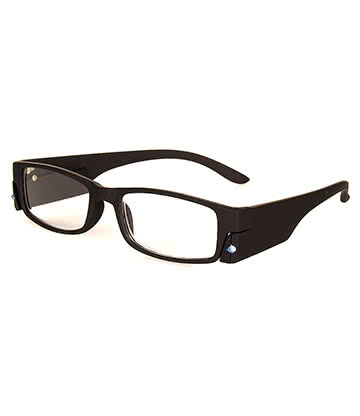 Blue Banana Reading Glasses With Light (Black)