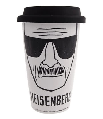Breaking Bad Heisenberg Travel Mug (White/Black)