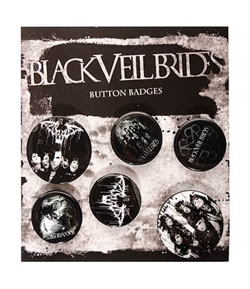 Official Black Veil Brides Darkest Badge Pack