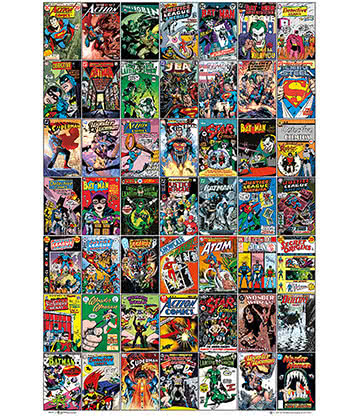 DC Comics Comic Book Covers Poster (Multicoloured)