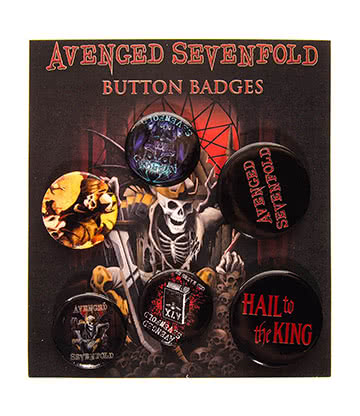 Official Avenged Sevenfold Hail King Badge Pack
