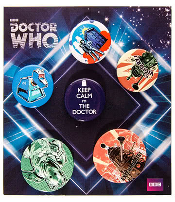 Doctor Who Retro Badge Set