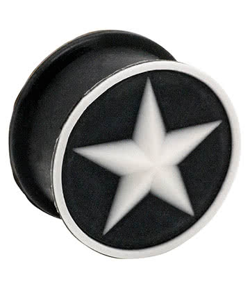 Blue Banana Silicone Star Plug 6-20mm (Black/White)