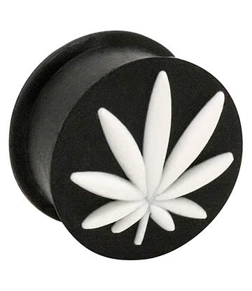 Blue Banana Silicone Leaf Plug 6-20mm (Black/White)