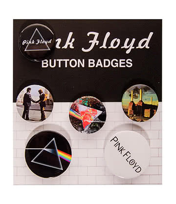 Official Pink Floyd Logo Badge Set