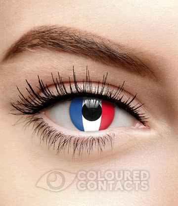 Novelty Flag 90 Day Coloured Contact Lenses (France)
