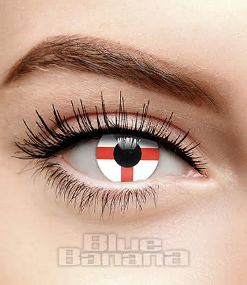 Novelty Flag 90 Day Coloured Contact Lenses (England)