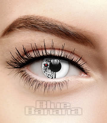 Terminator 90 Day Coloured Contact Lenses (Machine Head)