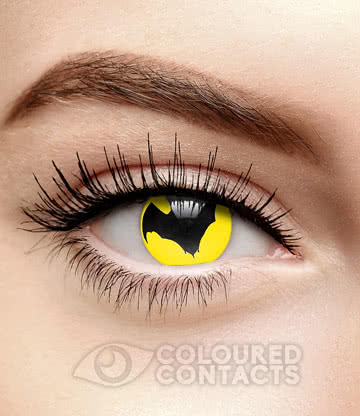Dracula Bat 1 Year Coloured Contact Lenses (Yellow)